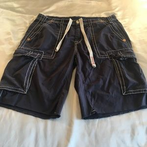 True Religion Issac Big T Cargo Shorts